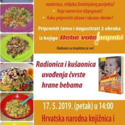 Radionica i kušaonica uvođenja čvrste hrane za bebe