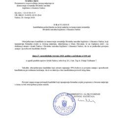 Obavijest kandidatima prijavljenim na Javni natječaj za imenovanje ravnatelja Hrvatske narodne knjižnice i čitaonice Našice